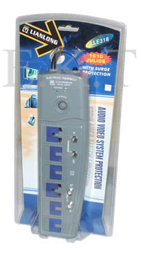 990 AC OUTLET 6B + RF + TEL PROTECT