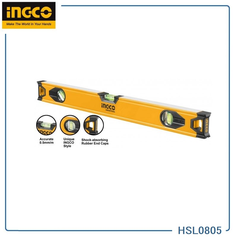 999   SPIRIT LEVEL DB8 INGCO 50CM HSL08050